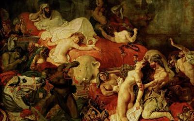 """Śmierć Sardanapala"" 1827 Eugene Delacroix"