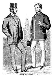 Moda męska  - druga połowa XIX wieku. Żakiet