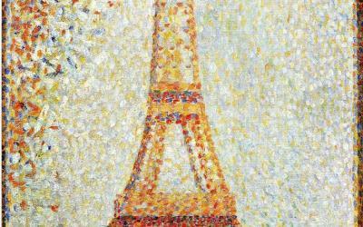 """""""Wieża Eiffela"""" 1889 – Georges Seurat"""