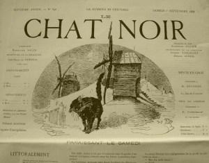 """Chat noir"" strona czasopisma"