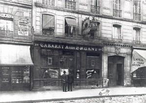 """Pierwsza lokalizacja kabaretu, w której później Aristide Bruant założył """"Le Mirliton"""","""