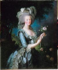 """Maria Antonina z różą"" 1789 – Elisabeth Vigee-Lebrun"