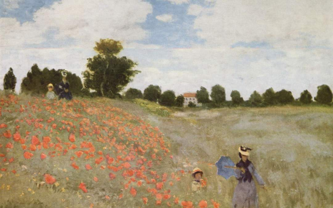 """Pole Maków""  1873 – Claude Monet"
