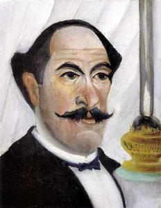 """""""Autoportret z lampą"""" 1903 - Henri Rousseau"""
