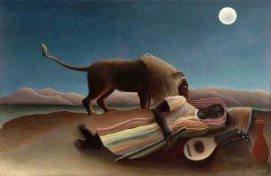 """""""Śpiąca cyganka"""" 1897 - Henri Rousseau"""