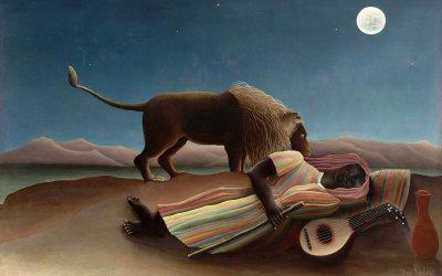 """""""Śpiąca cyganka"""" – 1897 Henri Rousseau"""