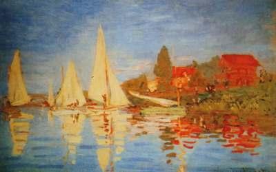 """Żaglówki, Regaty w Argenteuil"" 1872 Claude Monet"