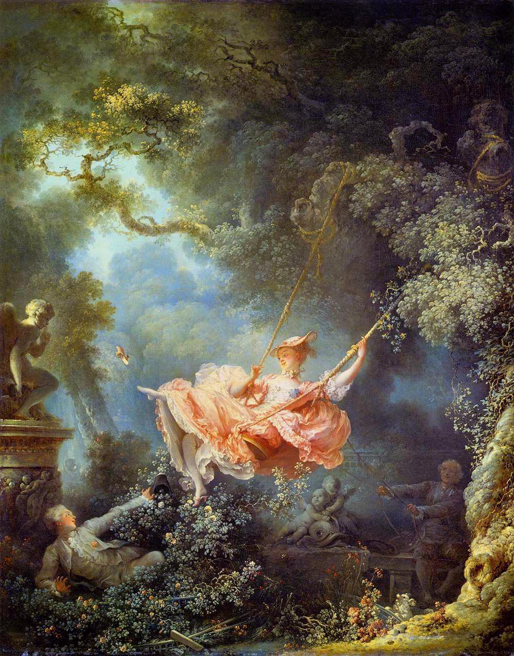 "Rokoko ""Huśtawka"" Jean-Honoré Fragonard 1767"
