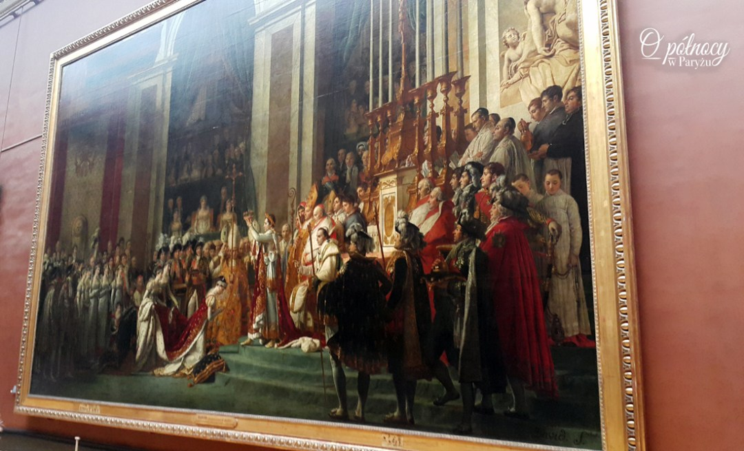 """Koronacja Napolona"" Luwr Jacques-Louis David"
