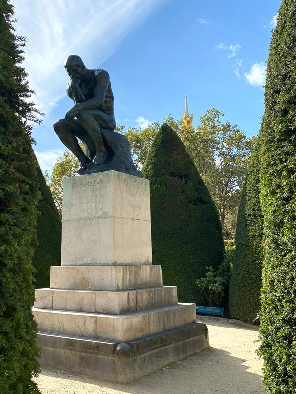 Muzeum Rodin mysliciel thinker