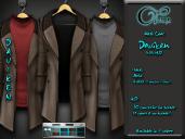"""Mesh coat """"Daviken"""" in Beige"""