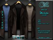 "Mesh coat ""Daviken"" in Brown"
