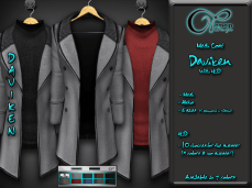 "Mesh coat ""Daviken"" in Grey"
