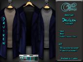 "Mesh coat ""Daviken"" in Blue"