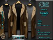 "Mesh coat ""Daviken"" in Camel"
