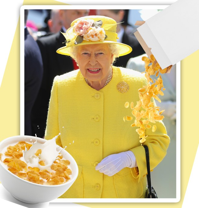 Rainha Elizabeth II: fã de cereal matinal (Foto: Getty Images e Thinkstock)
