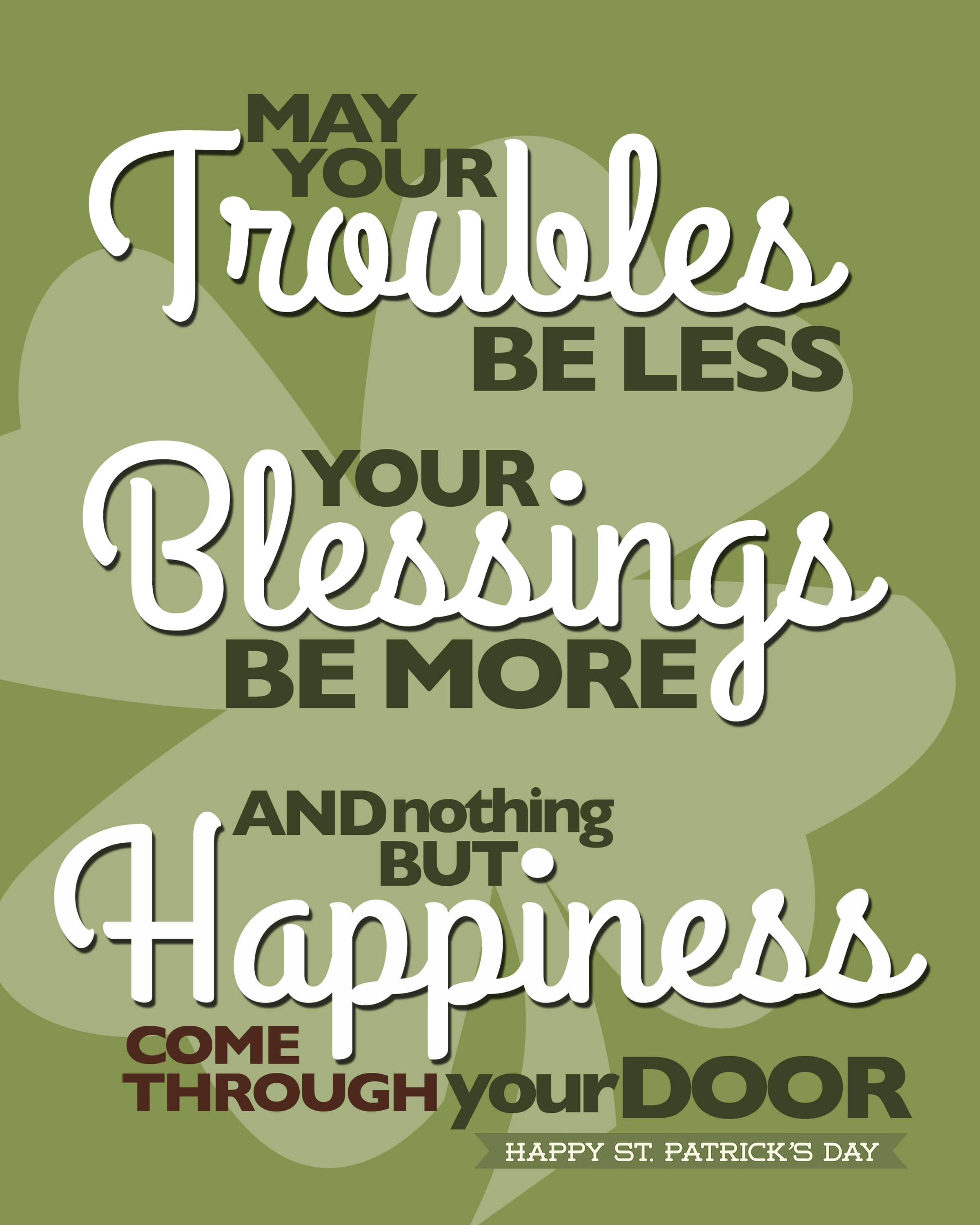 Happy St Patrick S Day Irish Blessings Saying Quotes Quote Images Hd Free