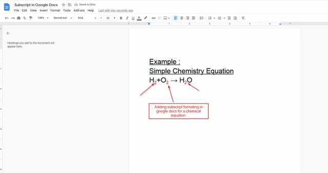25 Best Ways to add Superscript and Subscript in Google Docs - Oppilla