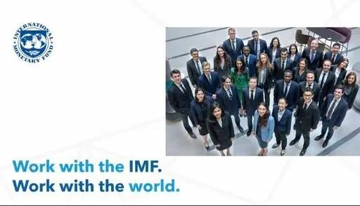 Programme de stages du Fonds monétaire international (FIP) 2021 pour les jeunes professionnels (entièrement financé à Washington DC USA)