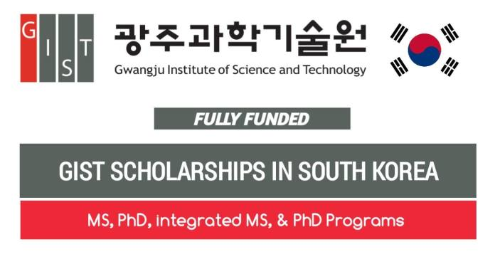 GIST Scholarship Program 2021 Fully Funded in South Korea