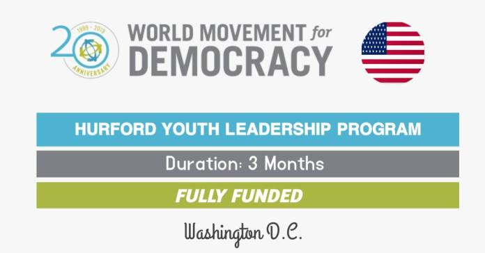 Hurford Youth Leadership Program Fully Funded in the USA
