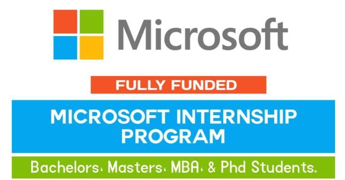 Microsoft Internship Program 2021 (Funded)