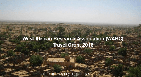 WARC Travel Grant For African Scholars and Graduates