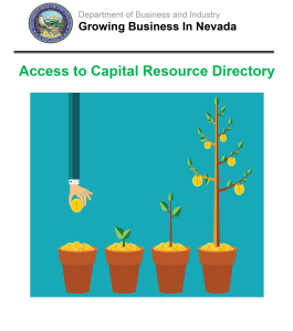 Nevada Access to Capital Resource Directory