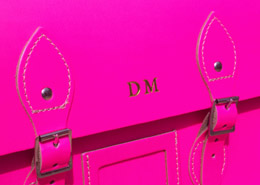pink leather satchel
