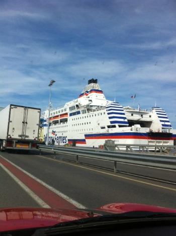 France by ferry Brittany Ferries Normandie