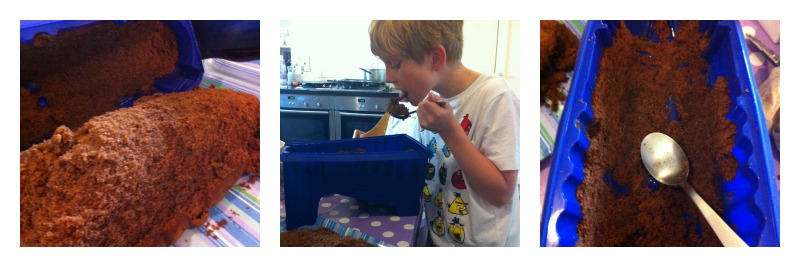 using a dalek cake mould
