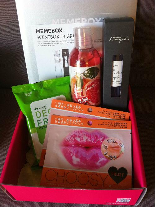 memebox korean beauty box grapefruit