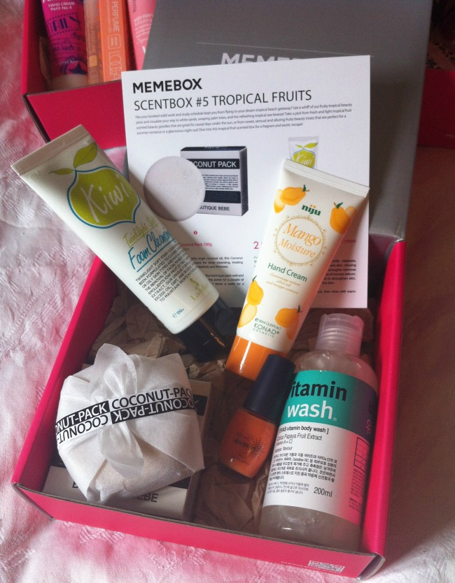memebox tropical fruits