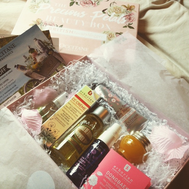 Precious Petals Beauty Box contents