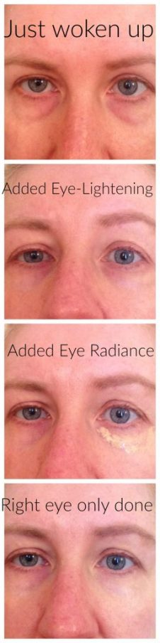 using Transformulas Eye Radiance & Eye Lightening
