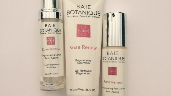 rose scented beauty products with Baie Botanique