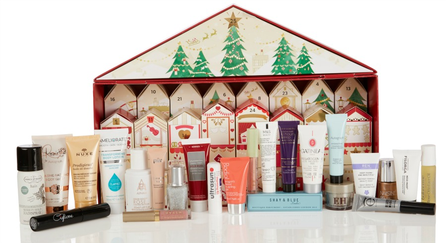 marks and spencer beauty advent calendar 2017 contents
