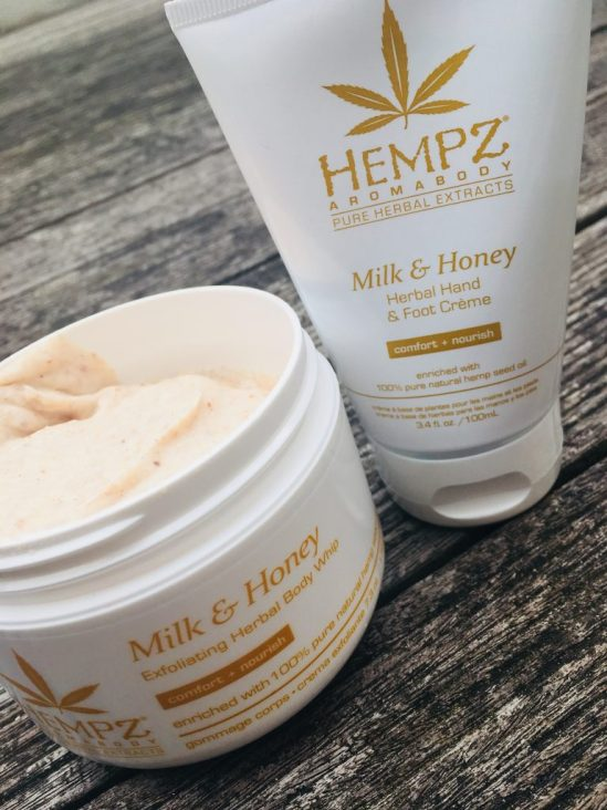 Hempz vegan milk and honey range