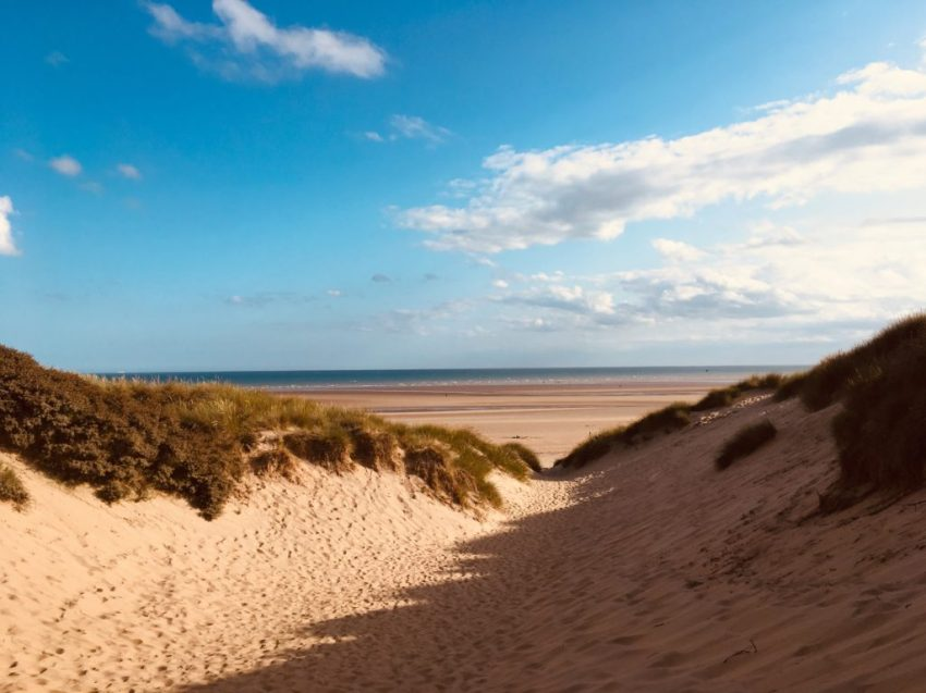 Camber Sands sand dunes