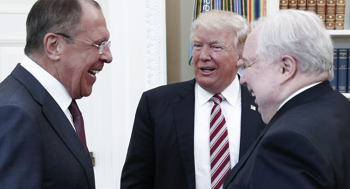 "Citing Fox and Friends, Trump tells Lavrov, ""I get great intel""."