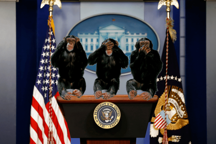 Spicer steps down. New team installed to handle press briefings.