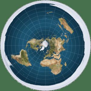Kante der flachen Erde sackt bedrohlich ab