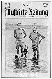 Noske und Ebert in Badehosen - Foto: gemeinfrei