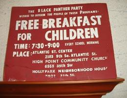 Black Panther Party Free Breakfast Program