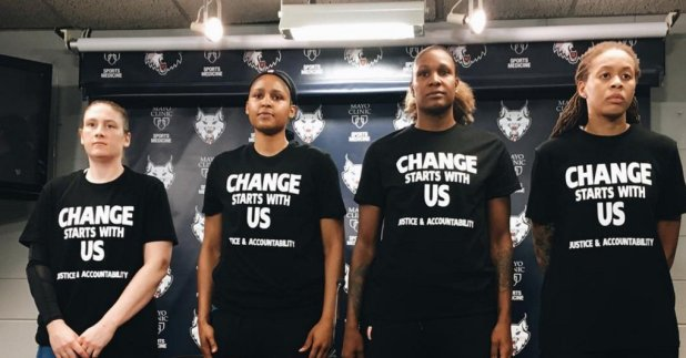 Even in professional basketball black women are leading the charge for change in social justice.