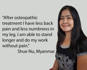 foreign domestic worker testimonial osteopathic treatment at OPRC