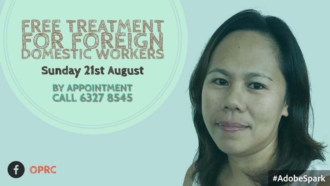 Free Osteopathic Treatment for Foreign domestic workers