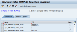 New variables in TVARVC