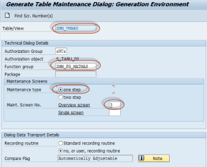 Maintenance generator for view on MARD