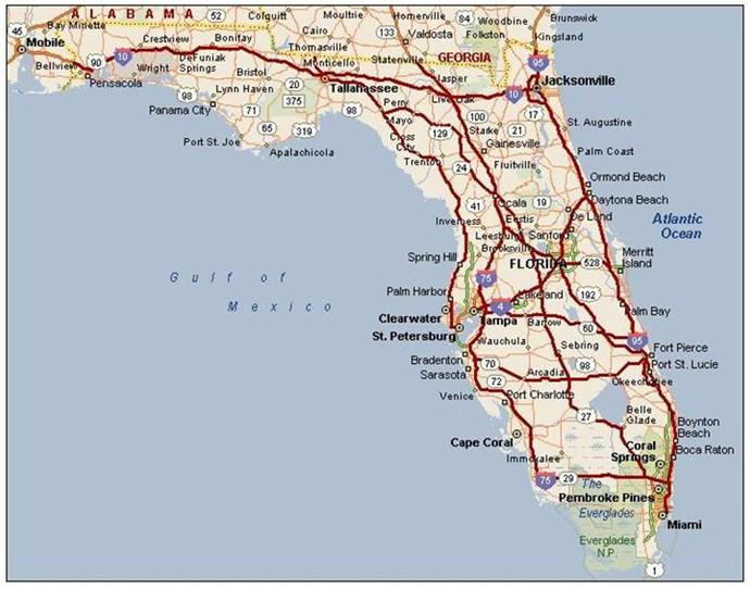 Florida 75 I And I Map 10